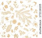 vintage floral seamless pattern ... | Shutterstock .eps vector #172118105