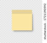 post note paper memo list pin... | Shutterstock .eps vector #1721190592