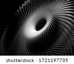 3d Render Of Abstract Art Black ...