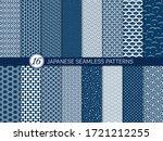set of 16 seamless pattern in...   Shutterstock .eps vector #1721212255