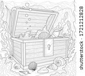 seabed chest with shells and...   Shutterstock .eps vector #1721212828