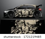 rally car decal graphic wrap... | Shutterstock .eps vector #1721219485