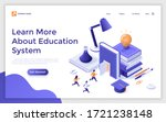 landing page template with... | Shutterstock .eps vector #1721238148