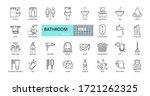 vector bathroom icons. editable ... | Shutterstock .eps vector #1721262325
