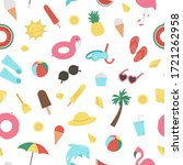 vector seamless pattern with... | Shutterstock .eps vector #1721262958