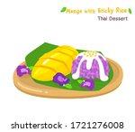 thai dessert mango  with sticky ... | Shutterstock .eps vector #1721276008