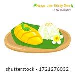 thai dessert mango  with sticky ... | Shutterstock .eps vector #1721276032