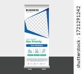 medical roll up banner design... | Shutterstock .eps vector #1721291242
