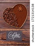 Coffee Heart Of Beans And...