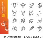 meat and fish   minimal thin... | Shutterstock .eps vector #1721316652