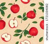 vector summer pattern with... | Shutterstock .eps vector #1721334082