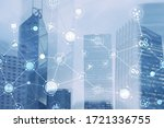 smart city and wireless... | Shutterstock . vector #1721336755
