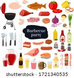 vector barbecue set   grill...   Shutterstock .eps vector #1721340535