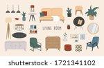 set of stylish living room...   Shutterstock .eps vector #1721341102