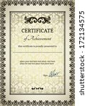 elegant classic certificate of... | Shutterstock .eps vector #172134575