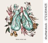 vector human lungs illustration ...   Shutterstock .eps vector #1721354425