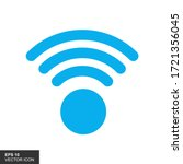Blue Wireles Signal. Icon. Wifi ...