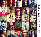 Hipster People Concept. Collag...