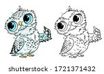 cute owl collection. monochrome ...   Shutterstock .eps vector #1721371432