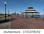 The view at the Water Heritage Trail on a sunny winter afternoon, Port Allen, Louisiana, USA