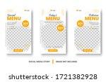 food menu banner social media...   Shutterstock .eps vector #1721382928