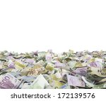 euro notes at the ground  white ... | Shutterstock . vector #172139576