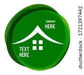 color real estate icon  ...   Shutterstock . vector #1721397442