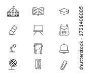 education set icon outline...