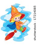 small witch   Shutterstock .eps vector #17214085