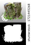 Cut Out Tree Stump. Mossy Tree. ...