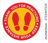 thanks for practicing social... | Shutterstock .eps vector #1721447215