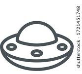 flying saucer icon. monoline... | Shutterstock .eps vector #1721451748