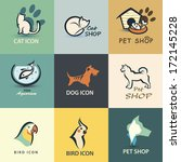 Stock vector pets vector icons collection 172145228