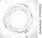 abstract circular structure... | Shutterstock .eps vector #172145312