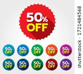 50 discount sticker. 50  off... | Shutterstock .eps vector #1721484568