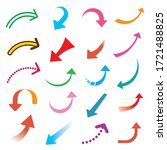 illustration set of colorful... | Shutterstock .eps vector #1721488825