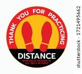 thanks for practicing social... | Shutterstock .eps vector #1721495662