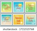 summer sale banner set.... | Shutterstock .eps vector #1721515768