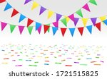 confetti floor and flags.... | Shutterstock .eps vector #1721515825