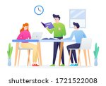 study group illustration with...   Shutterstock .eps vector #1721522008