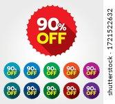 90  discount sticker. 90  off... | Shutterstock .eps vector #1721522632