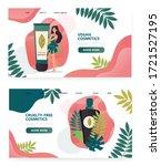 vegan organic cosmetic concept... | Shutterstock .eps vector #1721527195