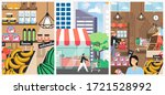 shopping vector poster template ... | Shutterstock .eps vector #1721528992