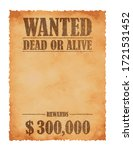 Grunged Wanted Paper Template...