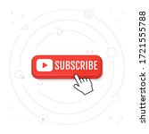 subscribe  call button and hand ... | Shutterstock .eps vector #1721555788