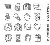 bundle of miscellaneous set...   Shutterstock .eps vector #1721559838