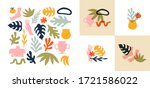 big set of abstract organic... | Shutterstock .eps vector #1721586022
