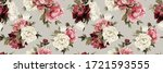 seamless floral pattern with... | Shutterstock . vector #1721593555