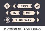 vintage graphic set. set of... | Shutterstock .eps vector #1721615608