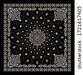 vector ornament paisley bandana ... | Shutterstock .eps vector #1721617405